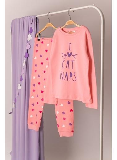 Zeyland Love Cats Baskılı Pijama Takımı (5-14yaş) Love Cats Baskılı Pijama Takımı (5-14yaş) Pembe